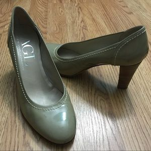Shoes - AGL Nude Patent Leather Round toe Classic Pumps